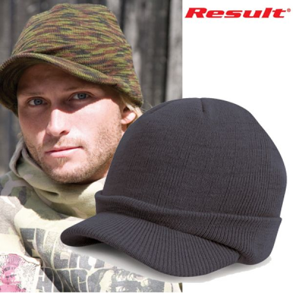 Result Army knitted Hat - Olive Mash