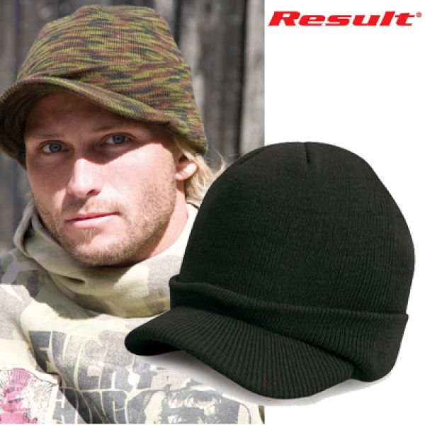 Result Army knitted Hat - Black