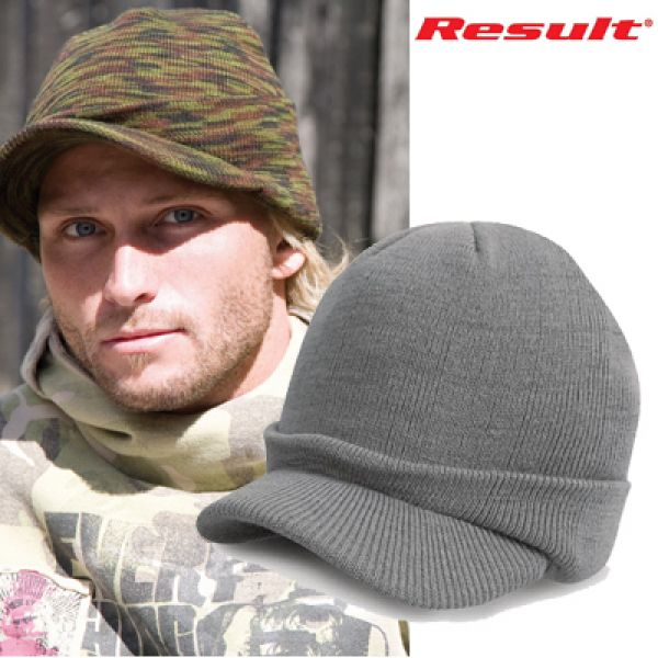 Result Army knitted Hat - Cool grey