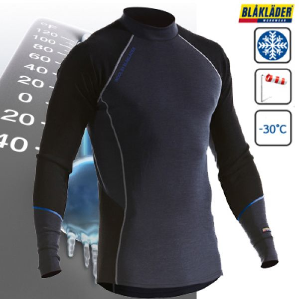Blaklader - Top kwaliteit thermisch ondergoed - warme crue neck in Merino wol tot -30°C