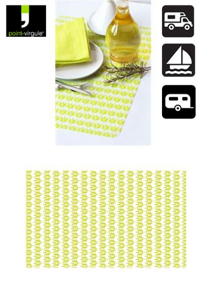 Point Virgule Silicone placemat 45x30cm groen