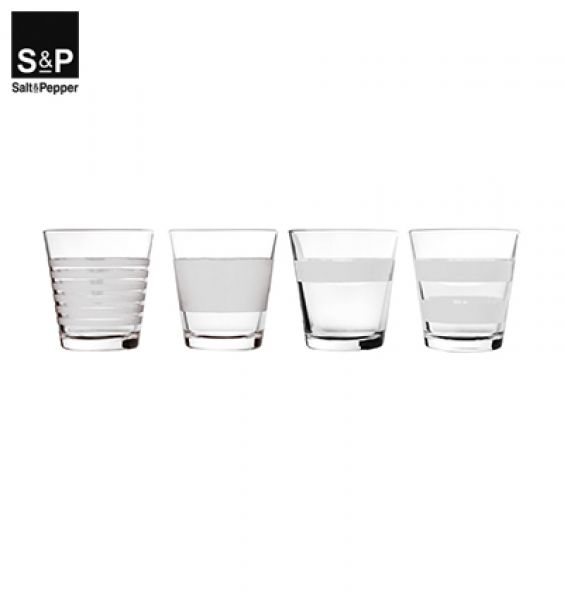 Salt & Pepper Drinkglas set/4 Stripeless wit