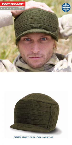Result - Esco Urban Knitted Hat RC061X - 100% poly acryl wintermuts - army green