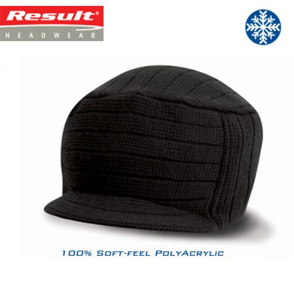 Result - Esco Urban Knitted Hat RC061X - 100% poly acryl wintermuts - black