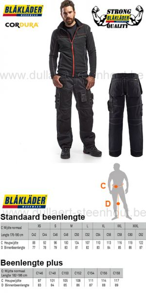 Blaklader X1500 EXTRA STRONG QUALITY werkbroek 1500 1380 9900