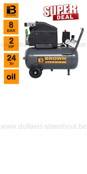 Brown - KA25200 8 Bar compressor met ketelinhoud van 24 liter