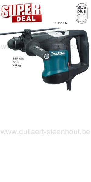 Makita -  HR3200C Boor- en beitelhamer SDS-PLUS