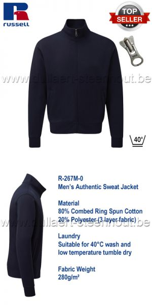Russell - Authentic Sweat Jacket 267M - Navy