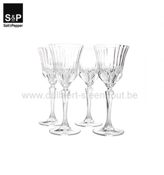 Salt & Pepper Wittewijnglas 0,22l set/4 Grace
