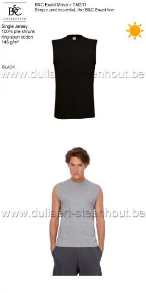 B&C Collection - Exact Move 2 t-shirts zonder mouwen TM201 / black