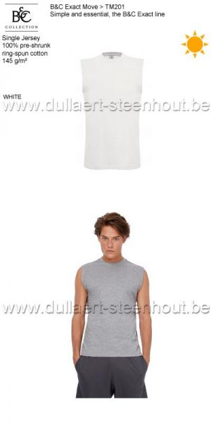 B&C Collection - Exact Move 2 t-shirts zonder mouwen TM201 / white