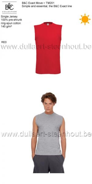 B&C Collection - Exact Move 2 t-shirts zonder mouwen TM201 / red