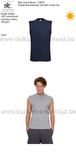 B&C Collection - Exact Move 2 t-shirts zonder mouwen TM201 / navy