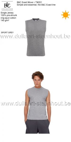 B&C Collection - Exact Move 2 t-shirts zonder mouwen TM201 / sport grey