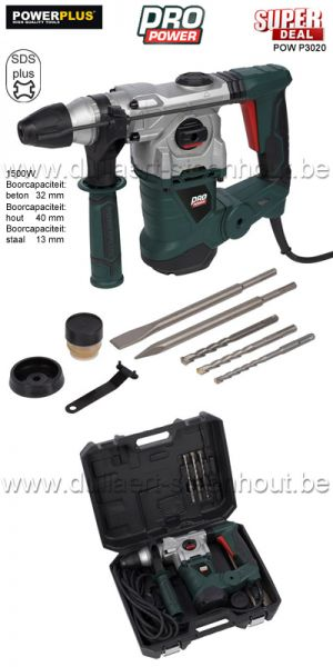 Powerplus PROPOWER - POWP3020 BOORHAMER / BREEKHAMER 1500W