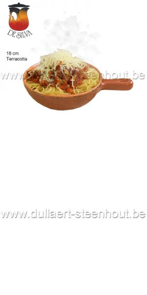 TERRE DE UMBRIA -  Authentiek terracotta spaghettibord met steel 18 cm