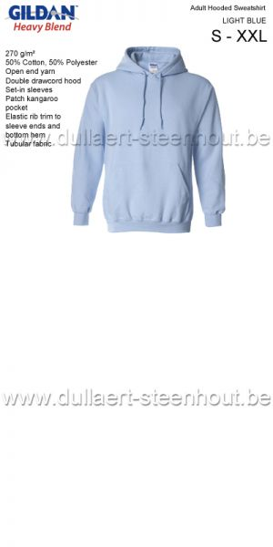 Gildan - Werksweater met kap 18500 Heavy blend - light blue