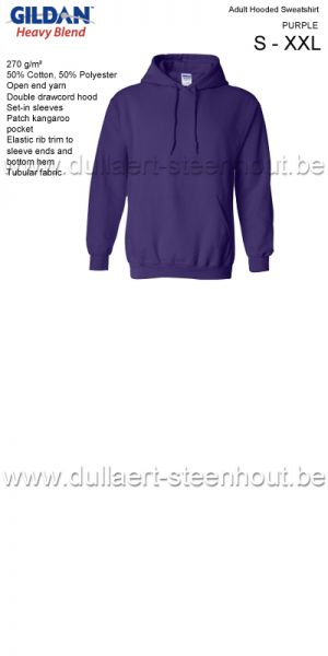 Gildan - Werksweater met kap 18500 Heavy blend - purple