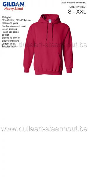 Gildan - Werksweater met kap 18500 Heavy blend - cherry red