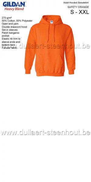 Gildan - Werksweater met kap 18500 Heavy blend - safety orange
