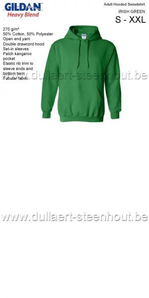 Gildan - Werksweater met kap 18500 Heavy blend - irish green