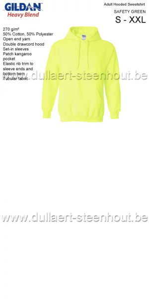 Gildan - Werksweater met kap 18500 Heavy blend - safety green