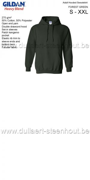 Gildan - Werksweater met kap 18500 Heavy blend - forest green