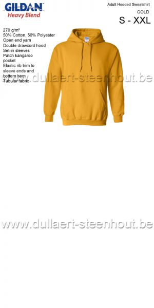 Gildan - Werksweater met kap 18500 Heavy blend - gold