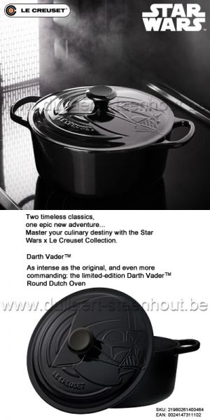 Le Creuset - Darth Vader™ braadpan/stoofpan 26 cm - Star Wars x Le Creuset - limited edition