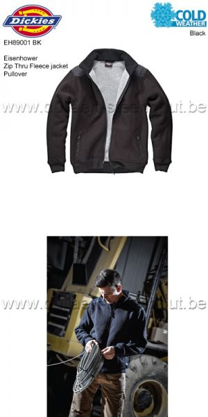 Dickies - Eisenhower warme fleece jacket EH89001 - zwart
