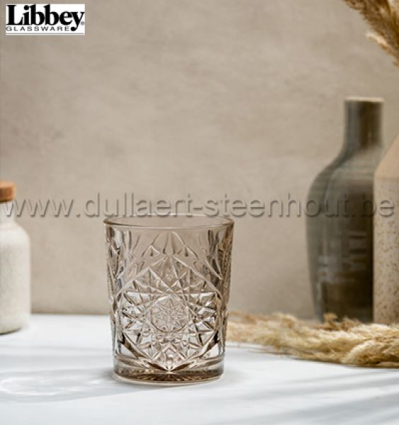 Libbey glassware - Hobstar glas Taupe 35cl