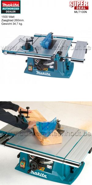 Makita - MLT100N TAFELZAAGMACHINE 260 MM 1500W