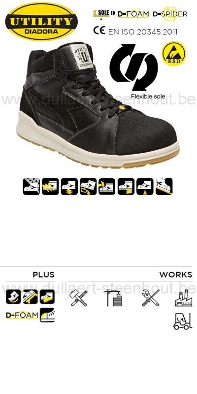 Diadora - D-Jump Hi PRO LX S3 ESD sneaker veiligheidsschoenen   sneaker  werkschoenen c750211f224